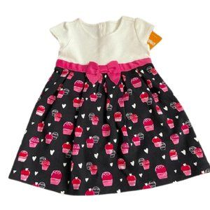 Gymboree Pink Hearts & Cupcakes Toddler Dress NWT